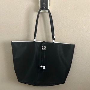 SALE! Givenchy Parfums Black PVC Shoulder Tote Bag